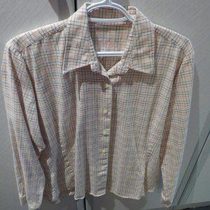 Barbour brushed cotton ladies blouse / shirt 14